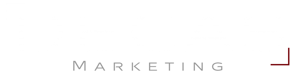 DECAS logo valkoinen